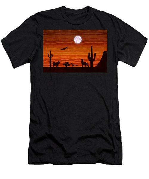 Southwest Desert Silhouette Men's T-Shirt (Athletic Fit)