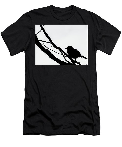 Sparrow In A Gray Sky Men's T-Shirt (Athletic Fit)