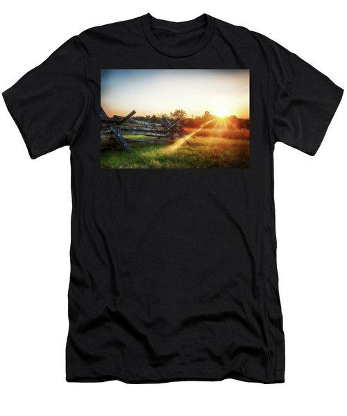 Split-rail Sunset Men's T-Shirt (Athletic Fit)