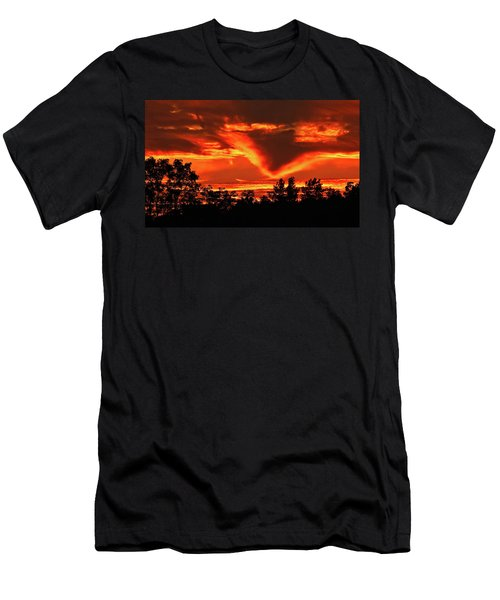Springport, Michigan Sunset 4289 Men's T-Shirt (Athletic Fit)