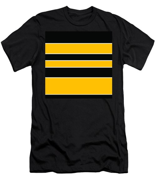 Stacked - Black And Yellow Men's T-Shirt (Athletic Fit)