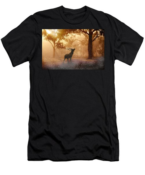 Stag In The Forest Men's T-Shirt (Athletic Fit)