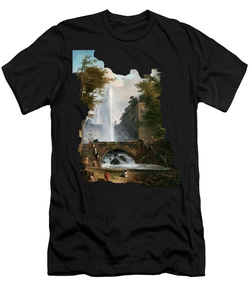 Stair And Fountain In The Park Of A Roman Villa Men's T-Shirt (Athletic Fit)
