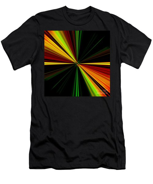 Starburst Light Beams Design - Plb461 Men's T-Shirt (Athletic Fit)