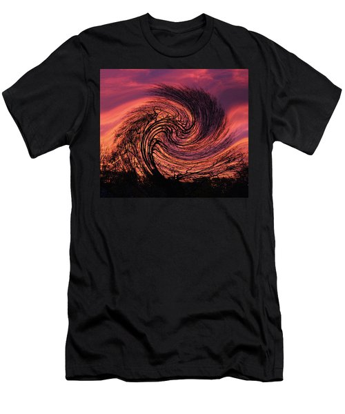 Stormy Abstract Men's T-Shirt (Athletic Fit)