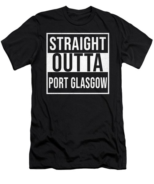 Straight Outta Port Glasgow Men's T-Shirt (Athletic Fit)