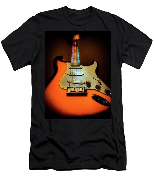Stratocaster Triburst Glow Neck Series Men's T-Shirt (Athletic Fit)