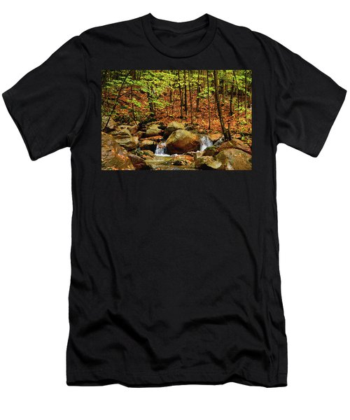 Men's T-Shirt (Athletic Fit) featuring the photograph Stream Rages In Ma by Raymond Salani III