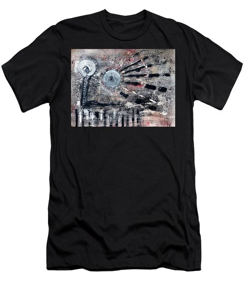 Men's T-Shirt (Athletic Fit) featuring the painting Succinct by 'REA' Gallery