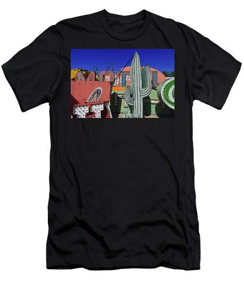 Men's T-Shirt (Athletic Fit) featuring the photograph Succulent  by Skip Hunt