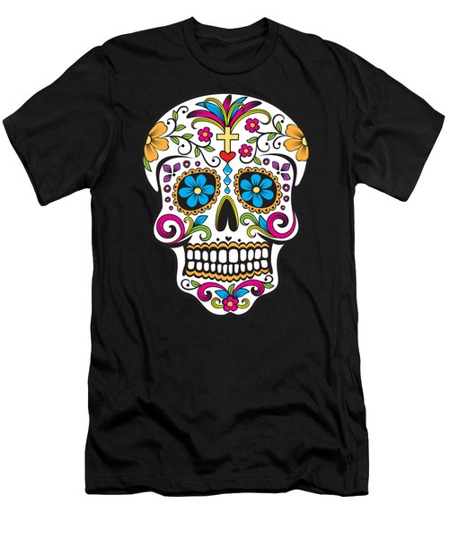 Sugar Skull Day Of The Dead Men's T-Shirt (Athletic Fit)