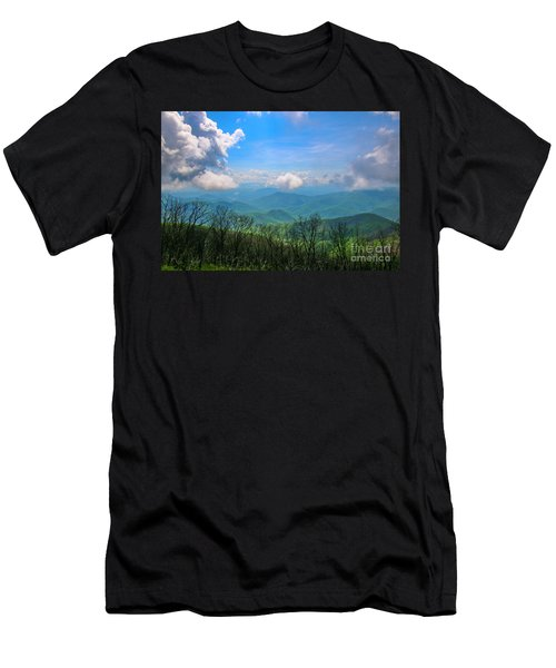 Summer Mountain View Men's T-Shirt (Athletic Fit)