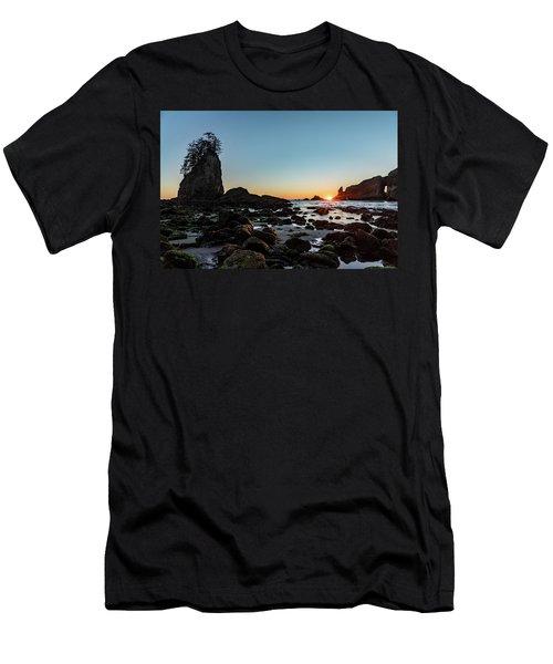 Sunburst At The Beach Men's T-Shirt (Athletic Fit)