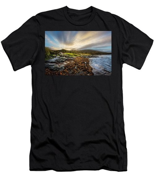 Sunrays At Dawn Along The Coast Men's T-Shirt (Athletic Fit)