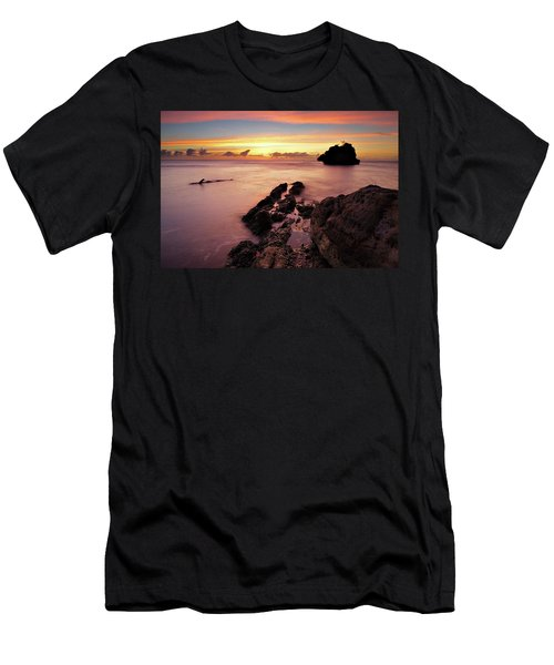 Sunset At Columbus Bay Men's T-Shirt (Athletic Fit)