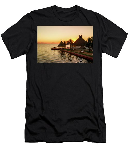 Sunset In Cancun Men's T-Shirt (Athletic Fit)