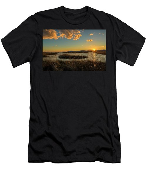 Sunset In The Natural Park Of Prat De Cabanes Men's T-Shirt (Athletic Fit)