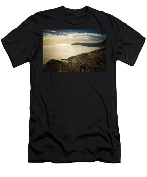 Sunset Near Tainaron Cape Men's T-Shirt (Athletic Fit)