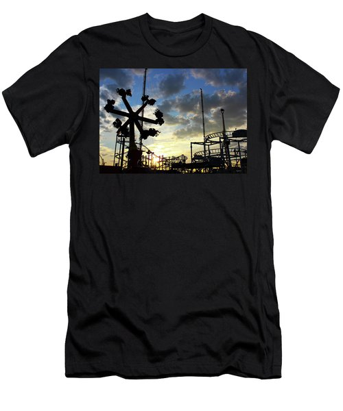 Sunset On Coney Island Men's T-Shirt (Athletic Fit)