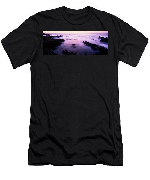 Sunset Over The Sea, 17-mile Drive Men's T-Shirt (Athletic Fit)