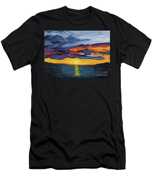 Sunset Streak Men's T-Shirt (Athletic Fit)