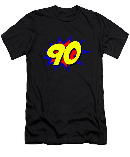 Superhero 90 Years Old Birthday Men's T-Shirt (Athletic Fit)