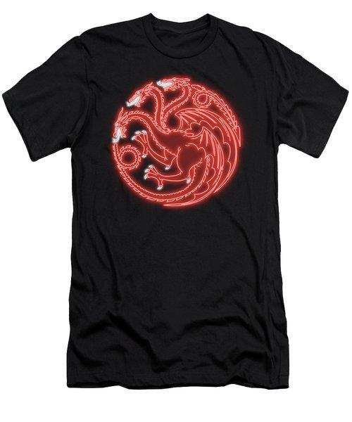 Targaryen Digital Neon Men's T-Shirt (Athletic Fit)
