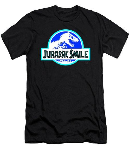 Jurassick Smile Logo Inv Men's T-Shirt (Athletic Fit)