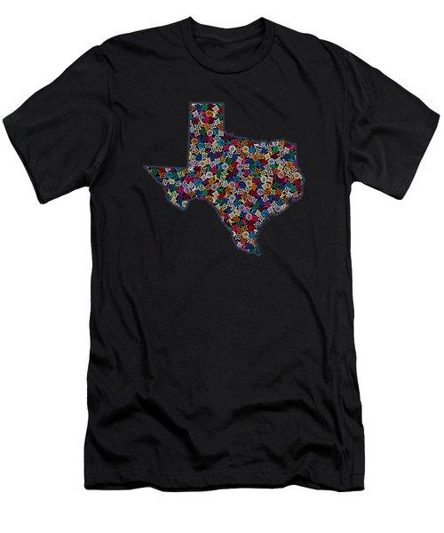 Texas Map - 2 Men's T-Shirt (Athletic Fit)