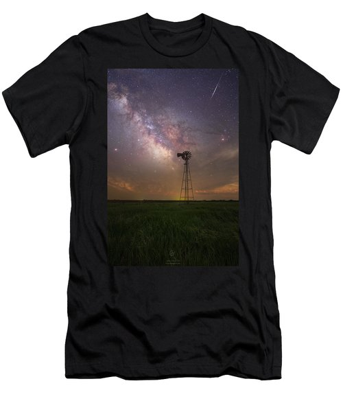Men's T-Shirt (Athletic Fit) featuring the photograph That's My Kind Of Night  by Aaron J Groen