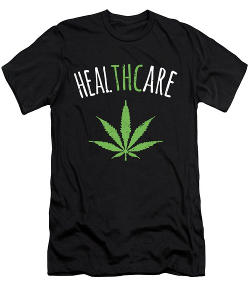 Thc Is Healthcare Cannabis Men's T-Shirt (Athletic Fit)