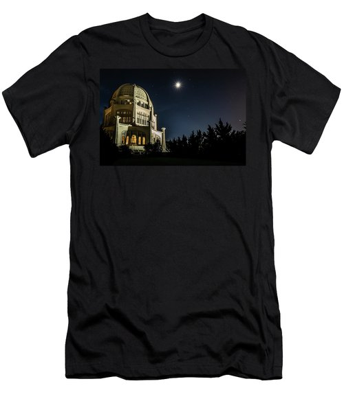 The Bahais Temple On A Starry Night Men's T-Shirt (Athletic Fit)