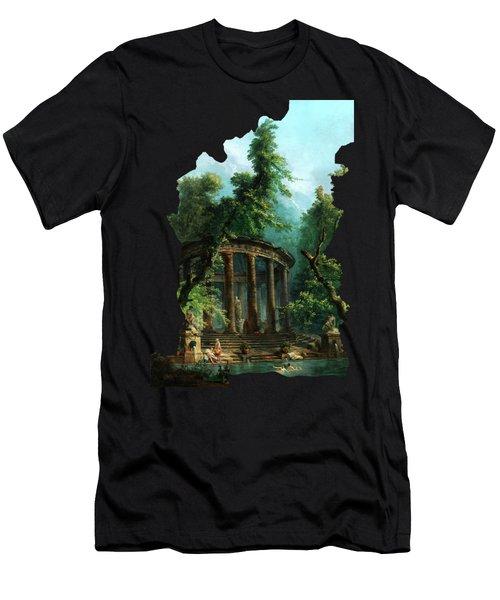 The Bathing Pool By Hubert Robert Men's T-Shirt (Athletic Fit)