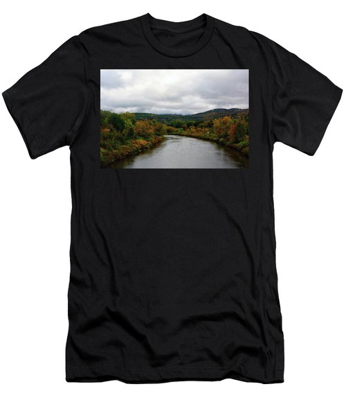 Men's T-Shirt (Athletic Fit) featuring the photograph The Housatonic River From A Bridge In Adams Ma by Raymond Salani III