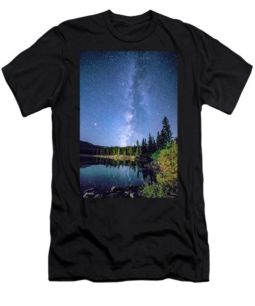 The Milky Way Over Echo Lake Men's T-Shirt (Athletic Fit)