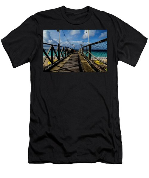 Men's T-Shirt (Athletic Fit) featuring the photograph The Pier #3 by Stuart Manning