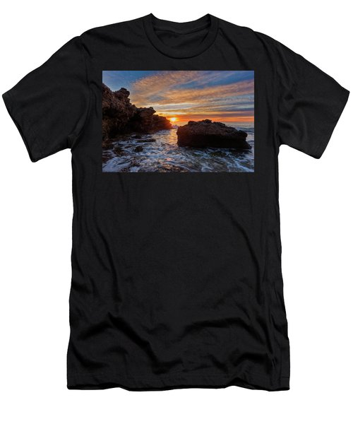 The Sea In Oropesa At Sunrise On The Orange Blossom Coast Men's T-Shirt (Athletic Fit)