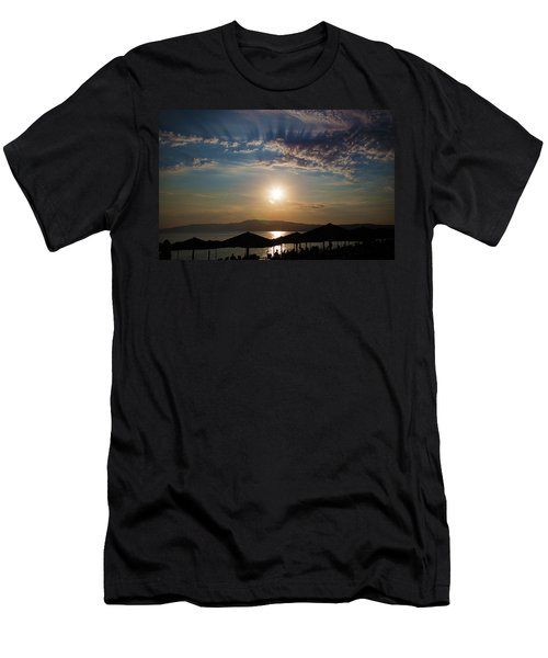 Men's T-Shirt (Athletic Fit) featuring the photograph the Sky above Us by Milena Ilieva
