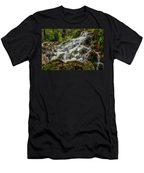 The Springs In It's Summer Green, Big Hill Springs Provincial Re Men's T-Shirt (Athletic Fit)