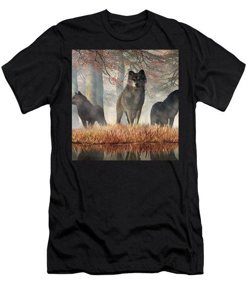 Men's T-Shirt (Athletic Fit) featuring the digital art The Wolves Of Autumn by Daniel Eskridge