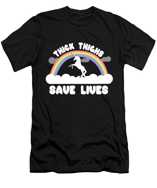 Thick Thighs Save Lives Men's T-Shirt (Athletic Fit)