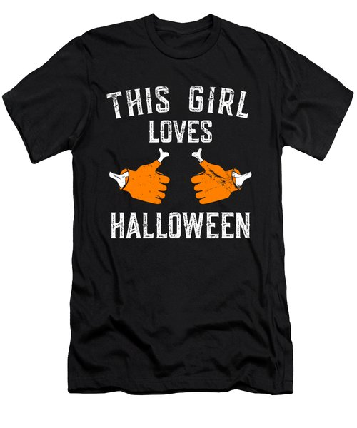 This Girl Loves Halloween Men's T-Shirt (Athletic Fit)
