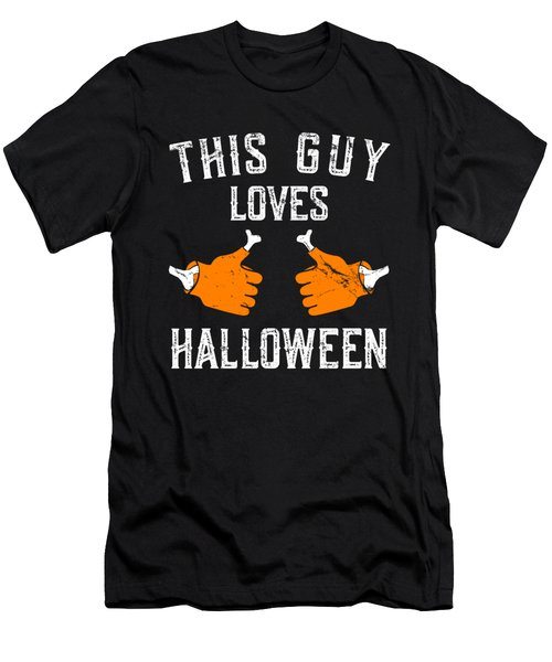 This Guy Loves Halloween Men's T-Shirt (Athletic Fit)
