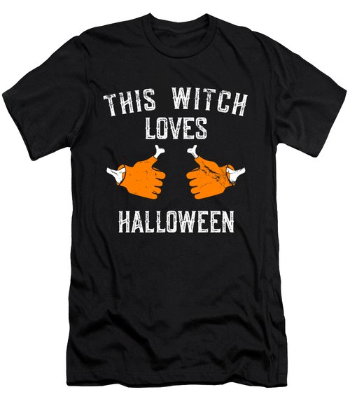 This Witch Loves Halloween Men's T-Shirt (Athletic Fit)