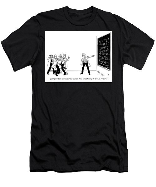 Threatening To Divide By Zero Men's T-Shirt (Athletic Fit)