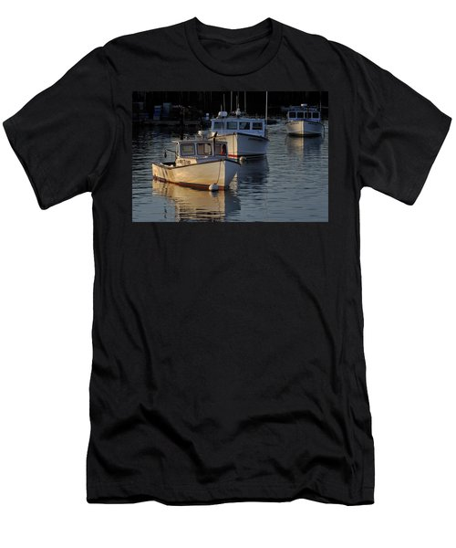 Three Boats In Maine Men's T-Shirt (Athletic Fit)