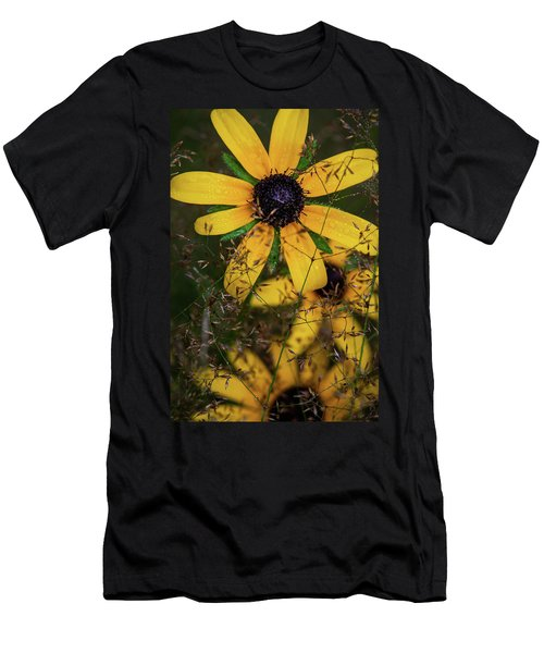 Men's T-Shirt (Athletic Fit) featuring the photograph Through The Meadow Grasses by Dale Kincaid
