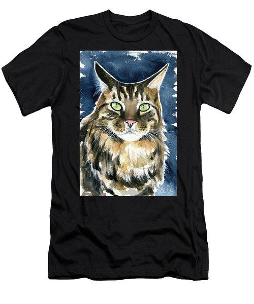 Tickie Maine Coon Portrait Men's T-Shirt (Athletic Fit)