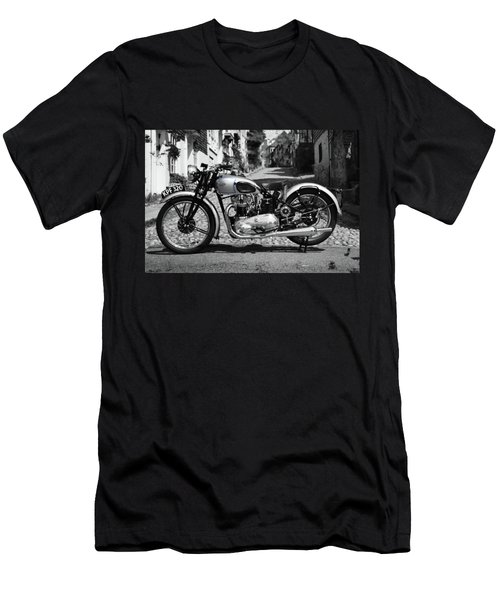Tiger T100 Vintage Motorcycle Men's T-Shirt (Athletic Fit)