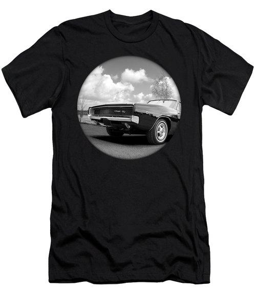 Time Portal - '68 Dodge Charger Men's T-Shirt (Athletic Fit)